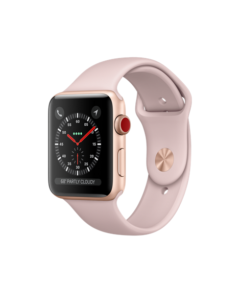 ad8c560dd Gold Aluminum Case with Pink Sand Sport Band